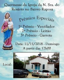 Quermesse da Igreja da Nossa Senhora do Rosário no Bairro Raposa em Registro-SP