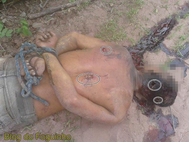Ladrão de moto é encontrado morto com o corpo amarrado e crivado de bala, na zona rural de São Bernardo.