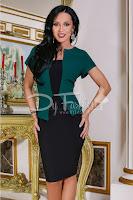 Rochie Totally Verde Cu Negru Office