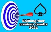 Shillong teer previous results 2021, Shillong teer results list 2021