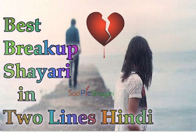 Breakup Shayari in Two Lines Hindi Me