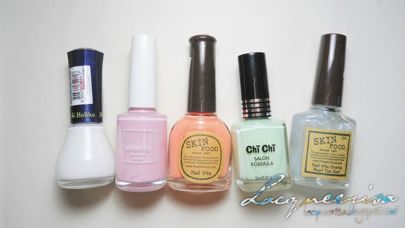 Polishes used for Base