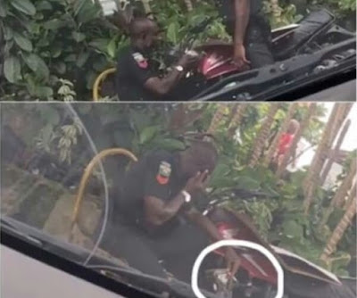 Policemen Gambling & Smoking While On Duty Arrested In Lagos