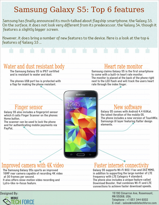 top 6 features of galaxy s5