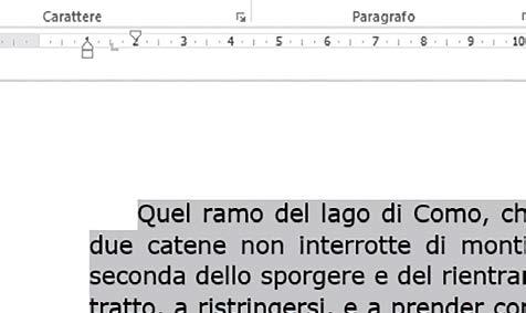esempio formattazione document word