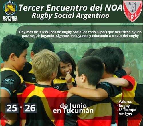 Tucumán recibe al Tercer Encuentro del NOA de Rugby Social