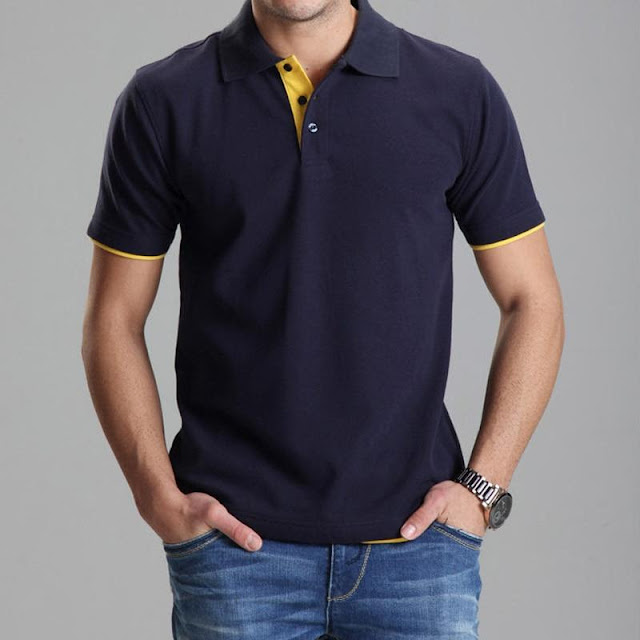 Men's Casual Solid Color Slim Fit Polo
