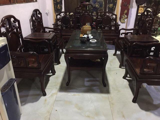 bộ bàn ghế gỗ trắc đen