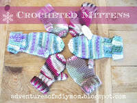 crocheted mittens