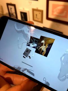 にくきゅうさんのARスプレーアート作品のメイキング動画キャプチャ