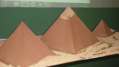 maqueta pirámides de Egipto