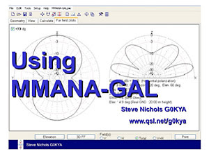 G0KYA's Amateur Radio Blog: Using MMANA-GAL for antenna