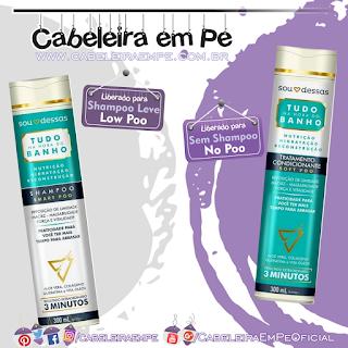 Shampoo (Low Poo) e Tratamento Condicionante (No Poo) Tudo na Hora do Banho - Sou Dessas