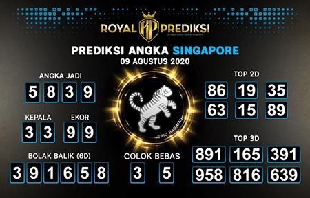 Royal Prediksi SGP Minggu 09 Agustus 2020