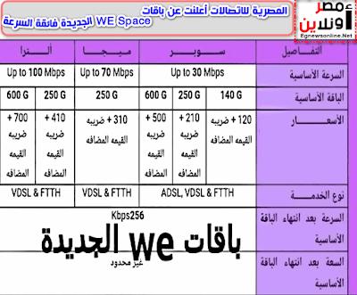 المصرية للاتصالات أعلنت عن باقات WE Space الجديدة فائقة السرعة, سرعات الإنترنت الجديدة,سرعات WE الجديدة , باقات الإنترنت الجديدة, إنترنت , تقنية , تكنولوجيا,