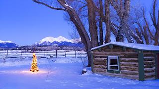 Cabana, iarna, munte