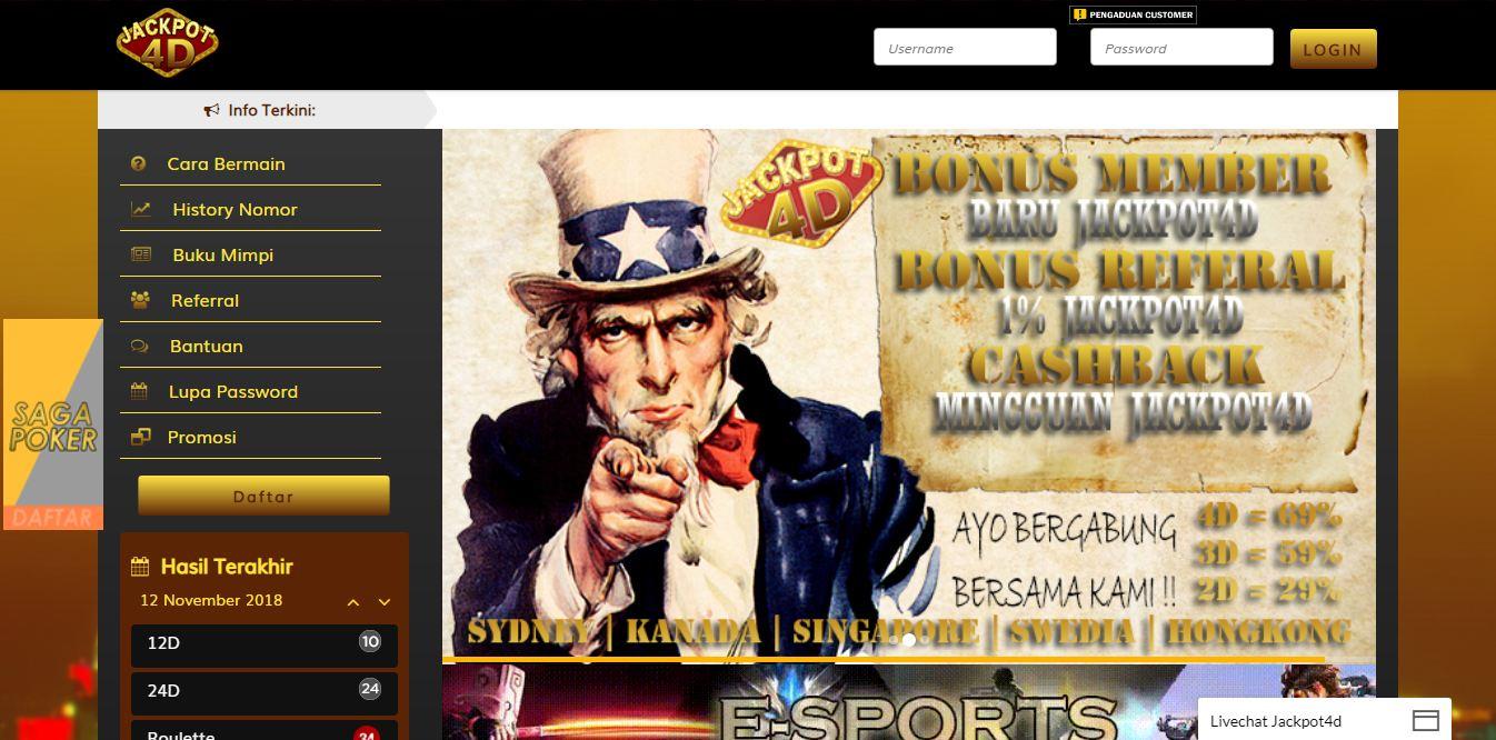 Jackpot4d agen betting togel online indonesia - BANDAR ...