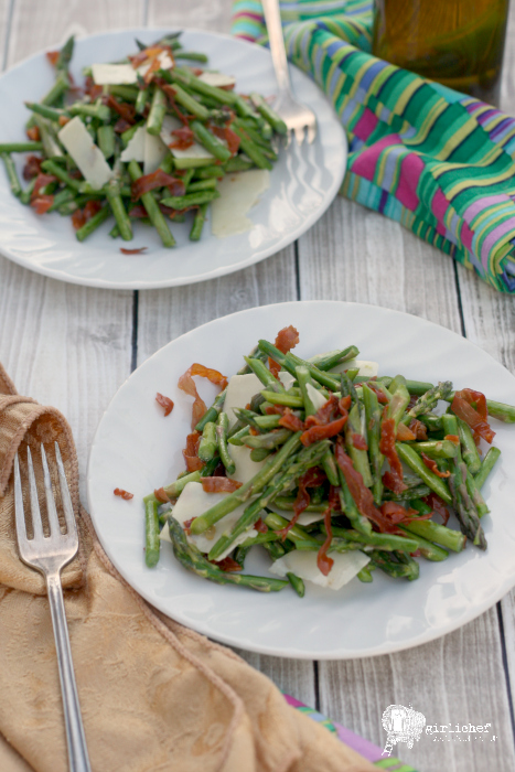 Asparagus and Prosciutto Salad with Lemon Vinaigrette