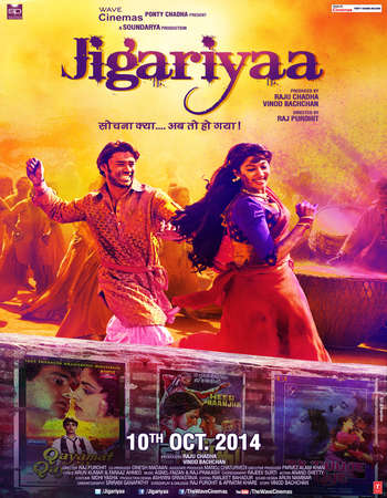 Poster Of Jigariyaa 2014 Hindi 400MB HDRip 480p ESubs Watch Online Free Download Worldfree4u