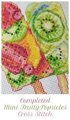 Finished Mini Fruity Cross Stitch