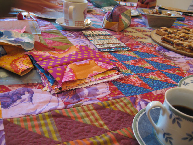 Kaffe fasset blocks and tablecloth