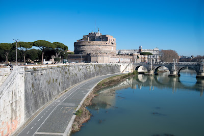 Castel Sant'Angelo from the tiber river
