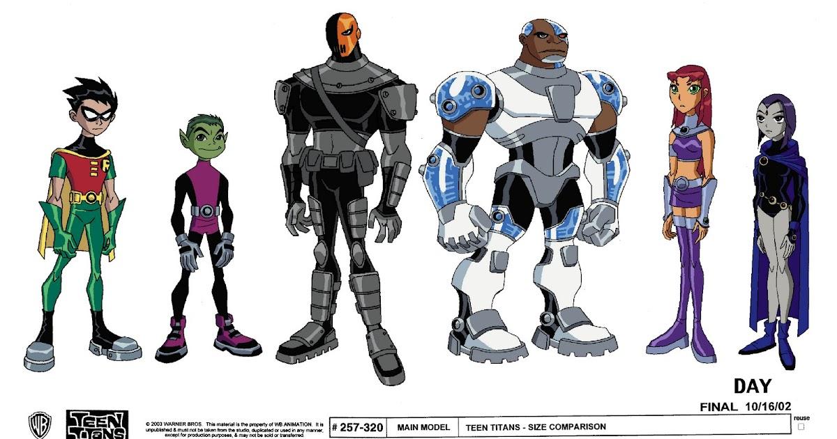 Modello di disegno del fumetto Teen Titans Model Sheets-2734