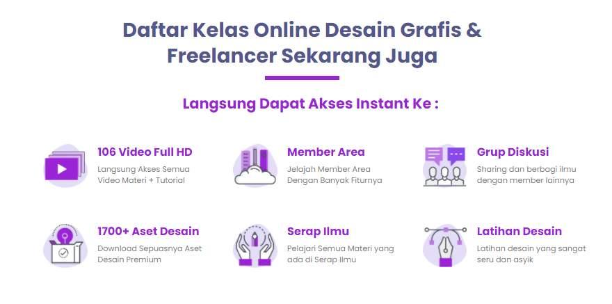 Kursus Online pelatihan sekolah kelas Belajar Desain Grafis Surabaya Adobe Illustrator & Freelancer