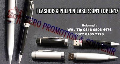USB Pen Laser 3-in-1, USB Pen Laser Pointer New Model, USB FLASHDISK PULPEN LASER FDPEN 17, USB Flash Drive PEN LASER 3 IN 1, Jual USB Pen dan Pointer, Flash Disk Promosi Pulpen 3 fungsi dengan harga Murah