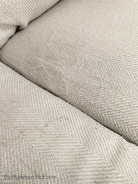 damage to sofa fabric