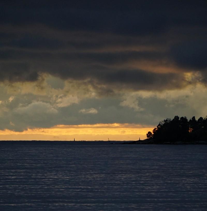 Itämeri, auringonlasku