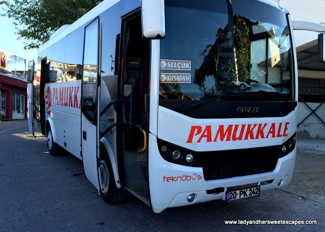 Pamukkale Bus bound to Selcuk