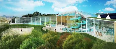 Perspective 3d piscine concours coupole solarium