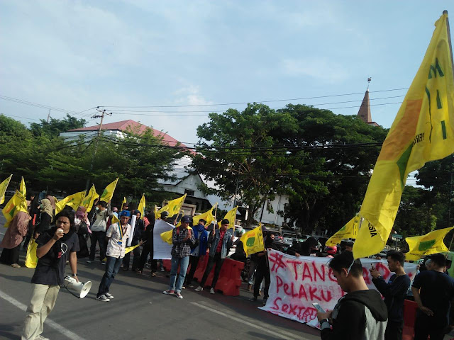 Kader PMII Gruduk Polrestabes Makassar Sampaikan 3 Tuntutan