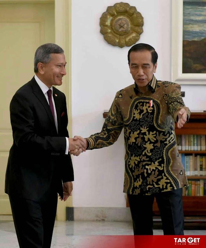 Terima Kunjungan Menlu Singapura, Presiden Jokowi Bahas Persiapan Leader's Retreat