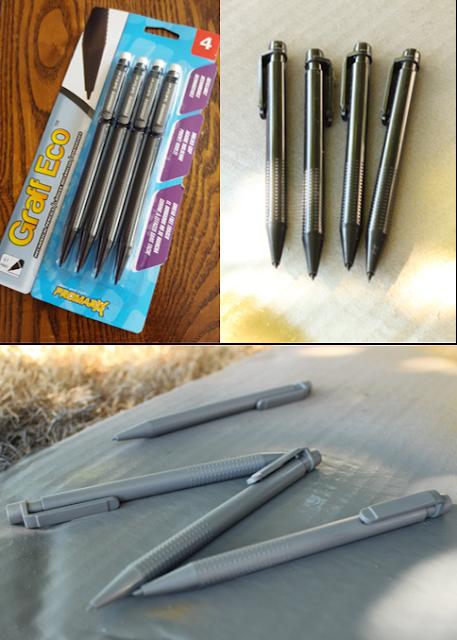 DIY office supplies gold metallic pencils