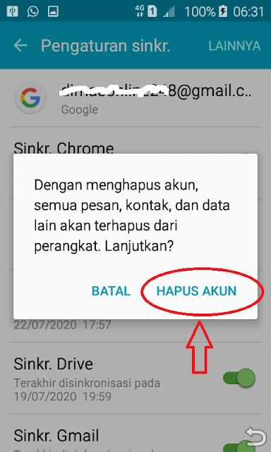 cara hapus akun gmail di hp android