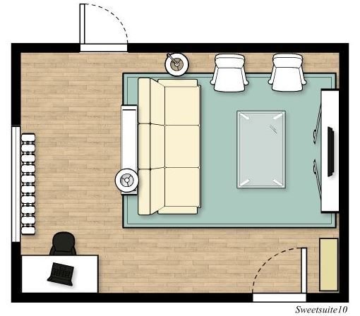 Livingroom layout option 6
