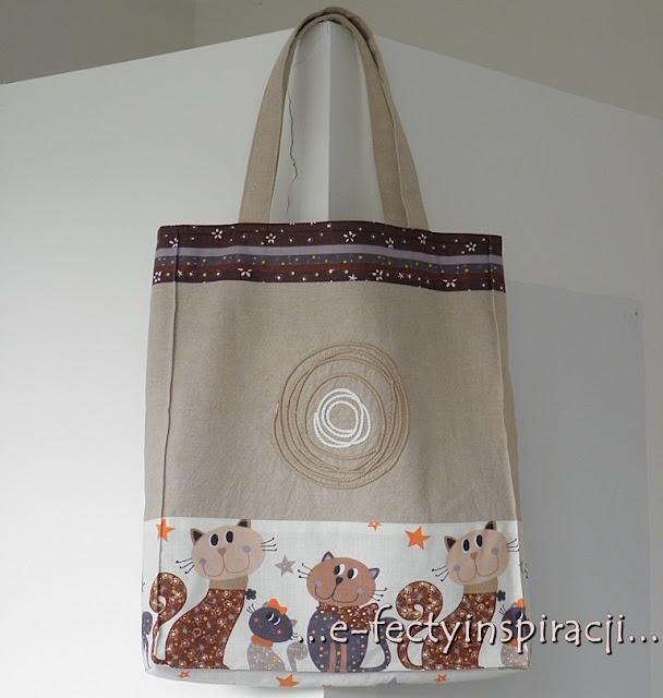 lniana torba, lniana torba na zakupy, torba na zakupy, siatka z lnu, jak uszyć lnianą torbę, ekotorba, , blog szyciowy, e-fectyinspiracji