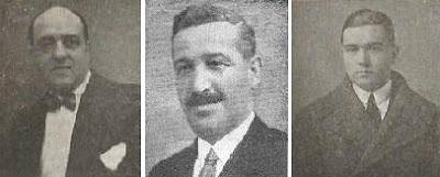 Los ajedrecistas Antoni Santasusagna, Àngel Molero y Francesc d'A. Carreras