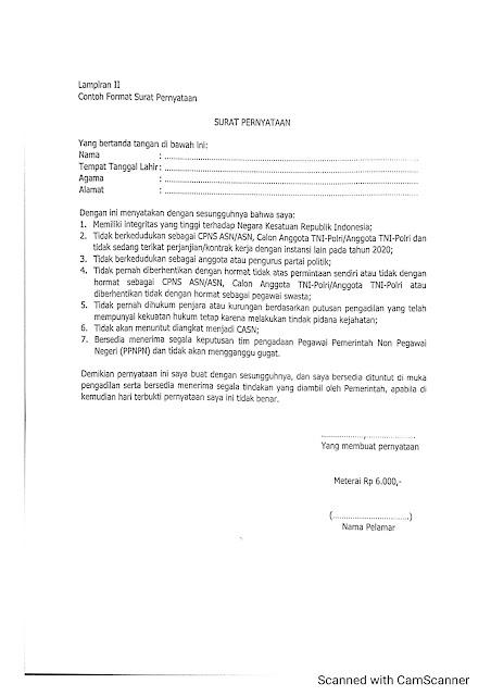 Penerimaan Pegawai Pemerintah Non Pegawai Negeri (PPNPN) Di Lingkungan Perwakilan BKKBN DIY Tahun 2020
