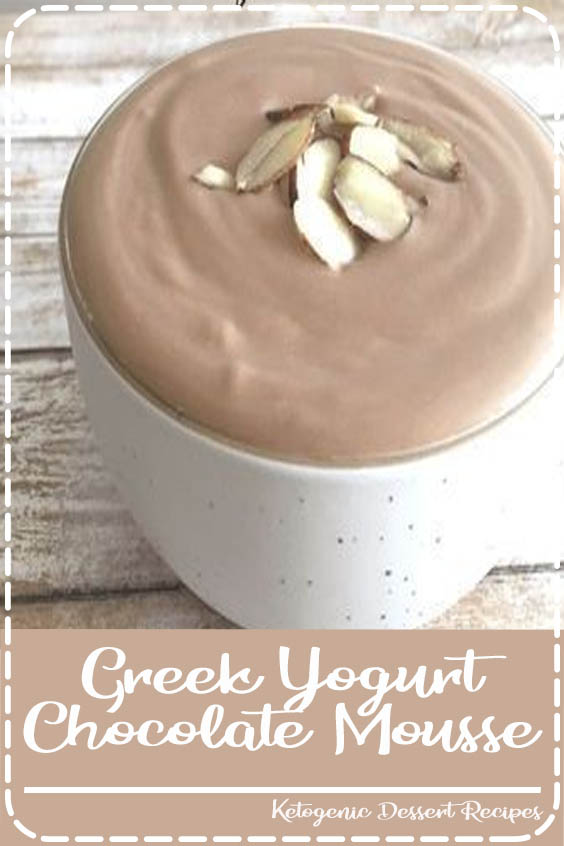 This easy and healthy Greek Yogurt Chocolate Mousse is a delicious and healthy dessert th Greek Yogurt Chocolate Mousse