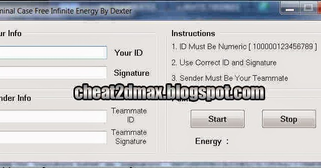 Criminal Case Cheat Energy Hack 2015 By Dexter Cheat 2d