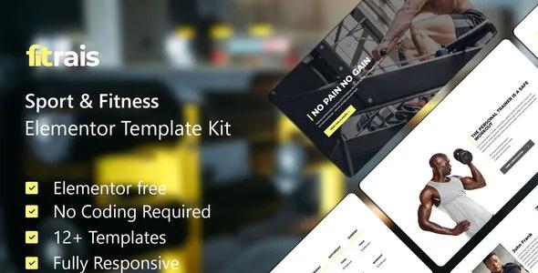 Best Sport & Fitness Elementor Template Kit