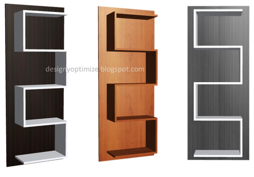 Dise o de muebles madera biblioteca a rea minimalista for Disenos de zapateras de madera
