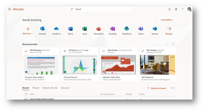 Nuovi aggiornamenti a Office.com e al programma di avvio dell'app Office 365