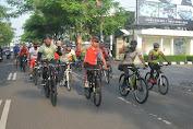 Perkokoh Sinergitas dan Soliditas, TNI-Polri Banyumas Gowes Bareng