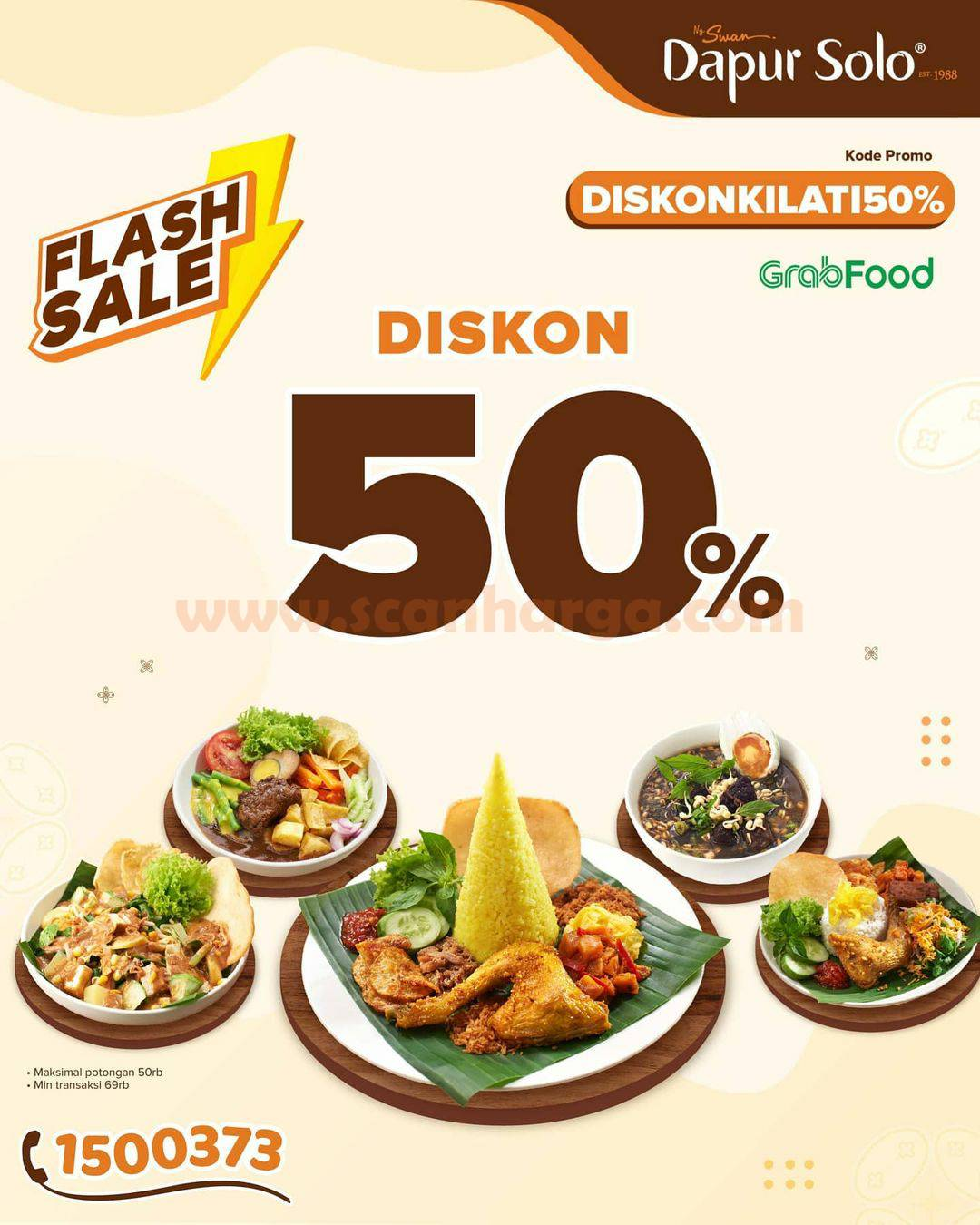 DAPUR SOLO Promo FLASH SALE – DISKON 50% via GRABFOOD