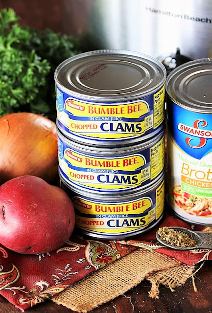 Slow Cooker Clam Chowder Ingredients Image