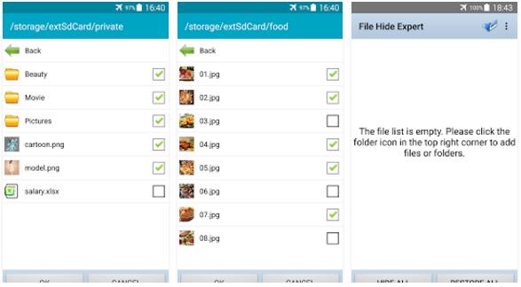 تطبيق مجانى للاندرويد لاخفاء الملفات الهامة عن اعين المتطفلين والدخلاء File Hide Expert apk